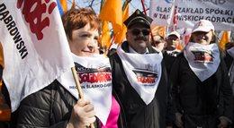 Kolejarze protestowali w Warszawie
