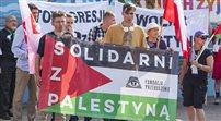 Demonstracja solidarności z Palestyńczykami