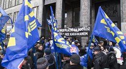 Cichy protest kolejarzy w Warszawie