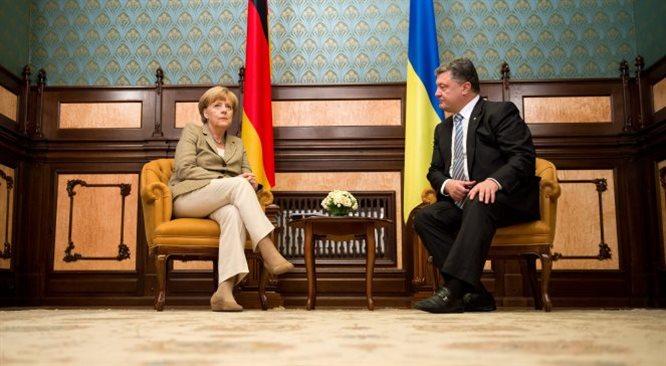 Poroszenko: kiedyś był plan Marshalla, teraz rodzi się plan Merkel dla Donbasu
