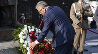 Prezydent złożył wieniec pod  pomnikiem marszałka Piłsudskiego