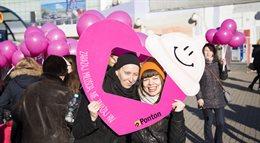 Happening grupy Ponton - Zarażaj miłością, nie zarażaj HIV