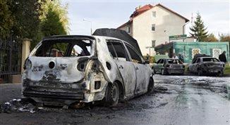 Gdańsk: pożar siedmiu samochodów. Celowe podpalenie?
