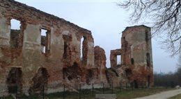 Białoruś: zamek w Holszanach