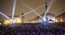 Wielka iluminacja w Warszawie