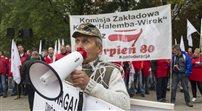 Górniczy protest w Warszawie