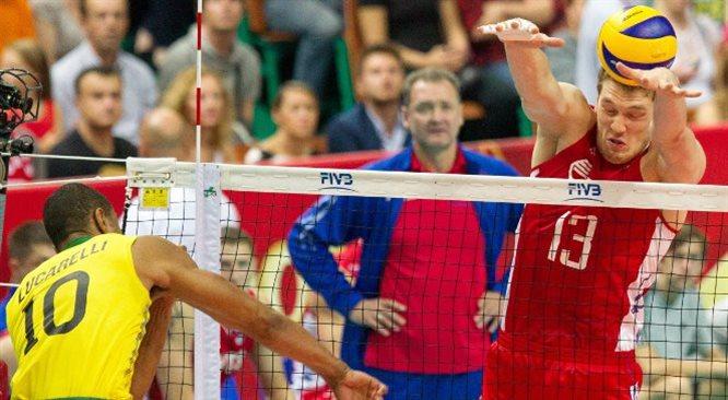 MŚ siatkarzy: Polacy dziś w półfinale? Trwa Brazylia - Rosja [DZIEŃ NA ŻYWO]