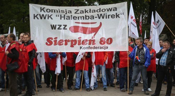 Górnicy deklaracje z expos Ewy Kopacz przyjęli gwizdami. Pobożne życzenia