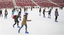 Lekcja WF-u na Stadionie Narodowym