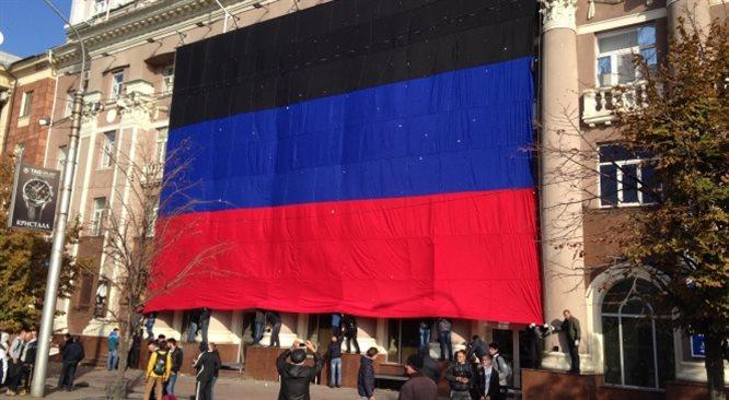 Donieck: święto separatystycznej flagi