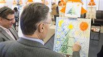 Choinki Jedynki- wielkie malowanie obrazków na aukcję
