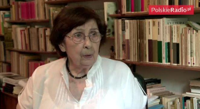 Katarzyna Herbert opowiada o codziennej pracy twórczej jej męża (mieszkanie Herbertów - gabinet Poety)