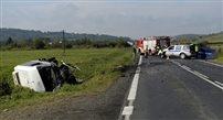 Tragiczny wypadek na krajowej 28 koło Sanoka. Nie żyją dwie osoby