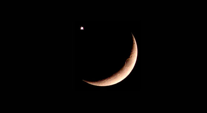 Meeting of the Moon and Saturn