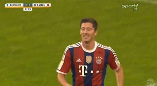 Bundesliga: Bayer Monachium - Borussia Dortmund. Lewy bez sentymentów