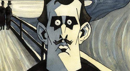 Fascynująca komiksowa biografia Edvarda Muncha