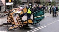 Wypadek fasiongu w centrum Zakopanego. Zaprzęg uderzył w samochód