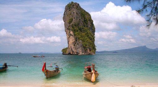 Plaża Phra Nang w Tajlandii(źr. Wikipedia, lic. CC)