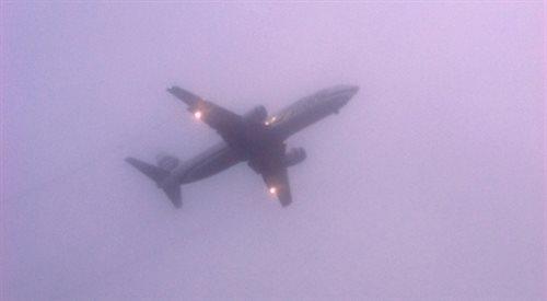 Gęsta mgła na Okęciu. Spóźnienia samolotów