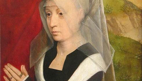 Portret modlącej się kobiety Hansa Memlinga