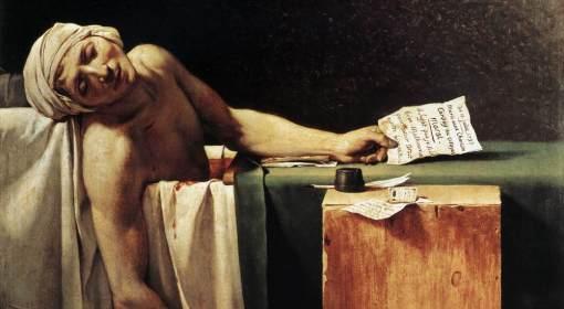 Jacques-Louis David, Śmierć Marata, 1793.