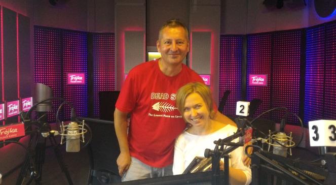 Tomasz Żąda i Magda Trzaska z Studiu Trójki fot. Dariusz Pieróg/PR3