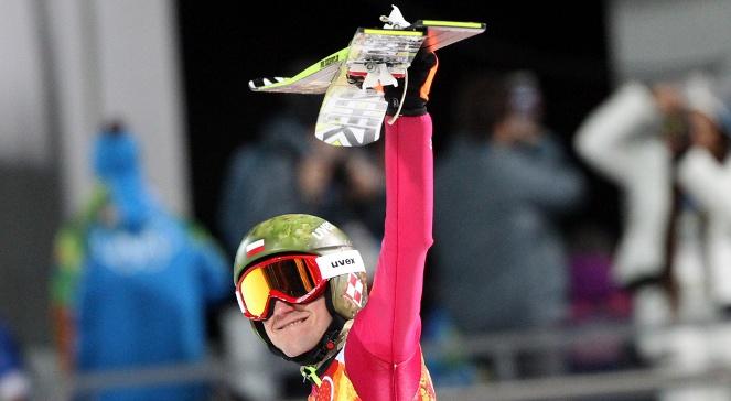 Kamil Stoch po zdobyciu złotego medalu w Soczi