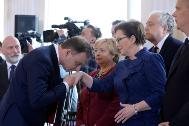 Andrzej Duda i Ewa Kopacz. Foto: PAP/Jacek Turczyk