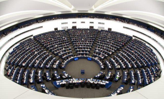 Parlament Europejski w Strasburgu. Sala obrad plenarnych