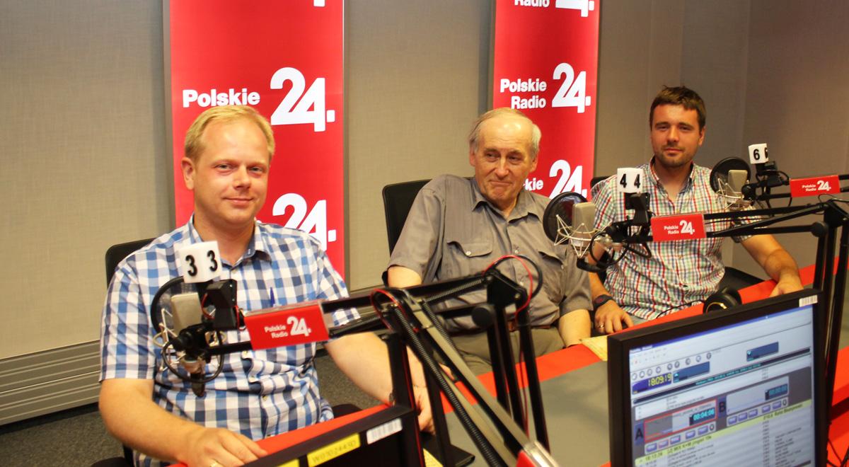 Od lewej:  Marek Szczygieł , prof. Janusz Odziemkowski  i Maksym Gołoś; Foto: PR24/JW
