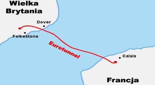 Trasa tunelu pod Kanałem La Manche