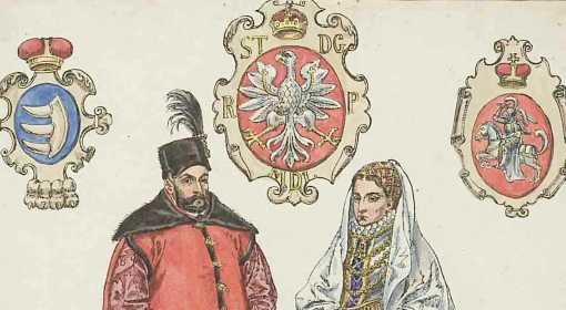 Stefan Batory - książę siedmiogrodzki, król Polski i wielki książę litewski z żoną - Anną Jagiellonką.