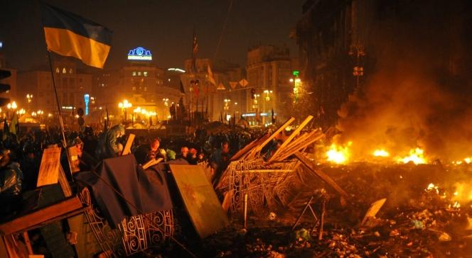 19.02.2014 barykada na placu Majdan Niepodległości