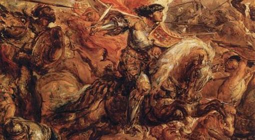 Władysław podczas bitwy pod Warną (Jan Matejko)