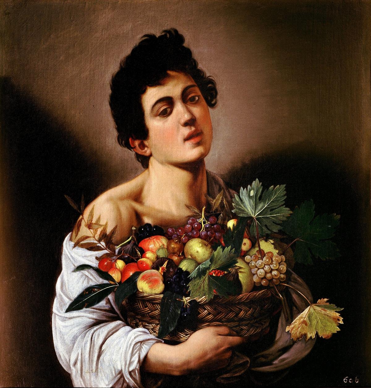 """""""Chłopiec z koszem owoców"""" Michelangela Merisiego da Caravaggio"""