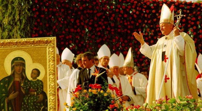 Łomża 04.06.1991. IV pielgrzymka papieża Jana Pawła II do Polski.