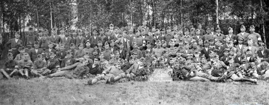 I kompania 1 batalionu Straży Granicznej - fotografia grupowa (1919 rok)