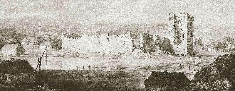 Zamek w Krewie, miejsce zawarcia unii (rycina z XIX wieku), Wikimedia Commons/dp