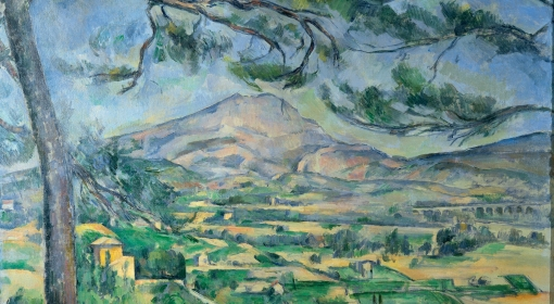 Paul Cezanne, Góra Świętej Wiktorii z wielką sosną, ok. 1886 r. (fragm.)
