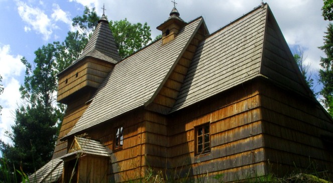 Kościół św. Marcina w Grywałdzie na Podhalu.   Autor