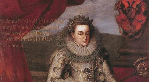 Maryna Mniszchówna w stroju koronacyjnym, 1606.