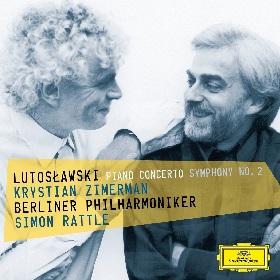 Simon Rattle i Krystian Zimerman. Fragment okładki nowego wydawnictwa Deutsche Grammophon z muzyką Witolda Lutosławskiego