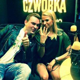 Mariusz Wawrzyńczyk i Kasia Węsierska w studiu