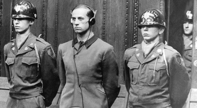 Główny oskarżony - dr Karl Brandt, osobisty lekarz Hitlera. fot.: PAPDPA