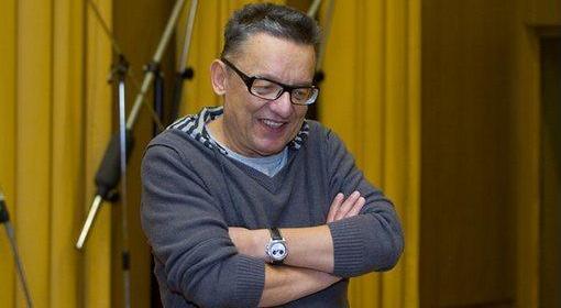 Andrzej Bart w studiu Teatru Polskiego Radia