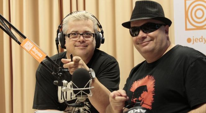 Jacek Jędrzejak (L) i Krzysztof Skiba z zespołu Big Cyc
