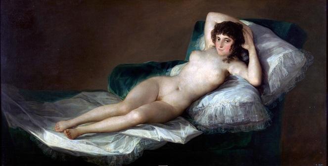 "Francisco Goya, ""Maja naga"""