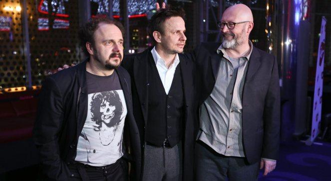 Arkadiusz Jakubik, Bartłomiej Topa i Wojciech Smarzowski podczas premiery Drogówki, Warszawa, 31.01.2013