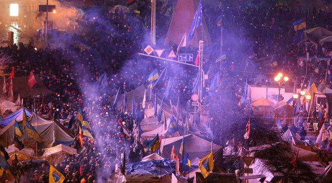 Na placu Niepodległości w Kijowie zebrało się ponad 20 tysięcy protestujących.