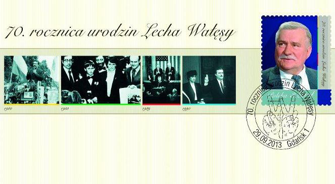 Lech Wałęsa trafił na znaczek pocztowy